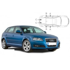 Sonnenschutz Blenden für Audi A3 (Typ 8P) 5 Türen Sportback 2003-2012
