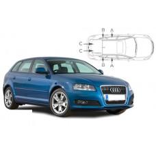 Sonnenschutz Blenden für Audi A3 (Typ 8P) 5 Türen Sportback 2003-2012