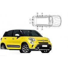 Sonnenschutz Blenden für Fiat 500L Trekking 2012-