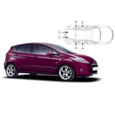 Sonnenschutz Blenden für Ford Fiesta 5 Türen 2008-2017