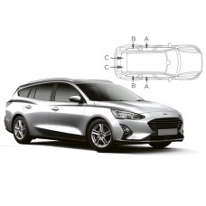 Sonnenschutz Blenden für Ford Focus Kombi 2018-