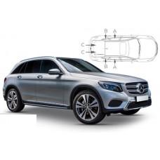Sonnenschutz Blenden für Mercedes-Benz GLC (X253) 5 Türen 2015-
