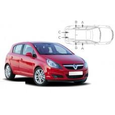 Sonnenschutz Blenden für Opel Corsa D 5 Türen 2006-2014