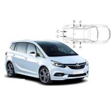 Sonnenschutz Blenden für Opel Zafira C 5 Türen Tourer 2012-