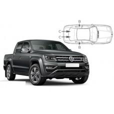 Sonnenschutz Blenden für Volkswagen Amarok Pick Up 2013-