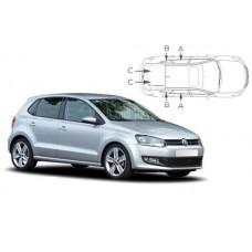 Sonnenschutz Blenden für Volkswagen Polo (Typ 6R/6C) 5 Türen 2009-2017